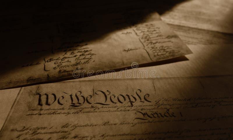 förenade konstitutiontillstånd royaltyfri fotografi