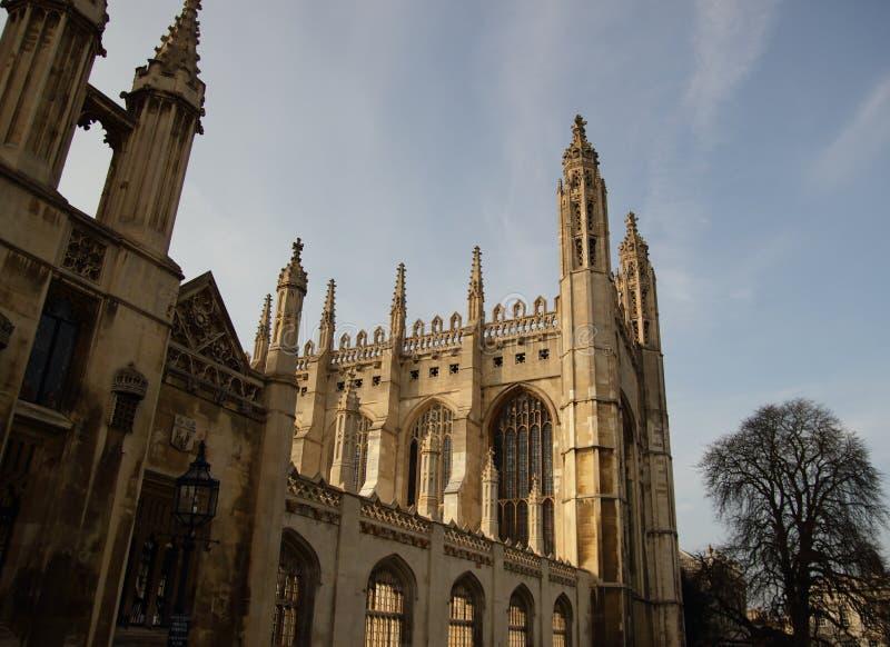 förenade konungar för kungarike för cambridge kapellhögskola arkivbilder