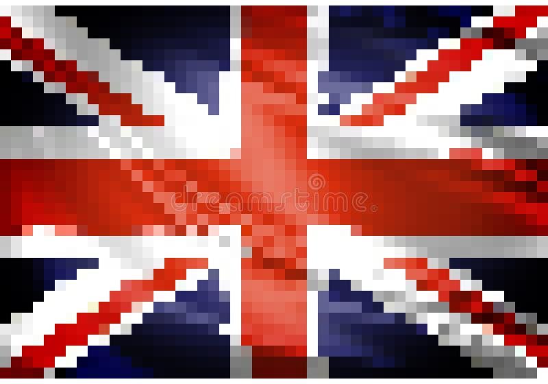 Förenade kungariket flaggaPIXEL vektor illustrationer