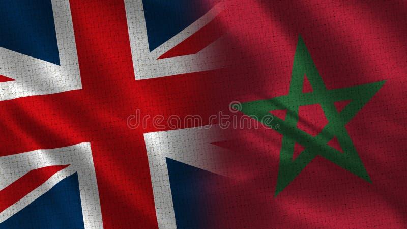 Förenade kungariket och Marocko royaltyfria bilder