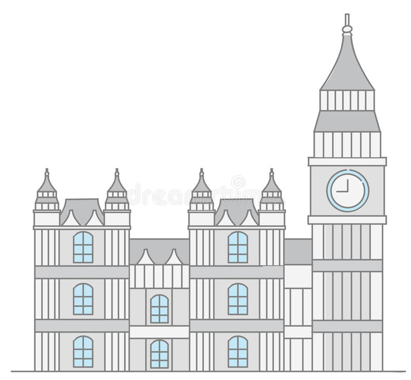 Förenade kungariket parlamentbyggnad stock illustrationer