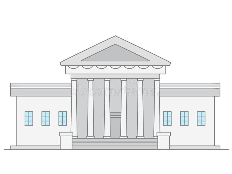 Förenar tillståndsVita Husetbyggnad royaltyfri illustrationer