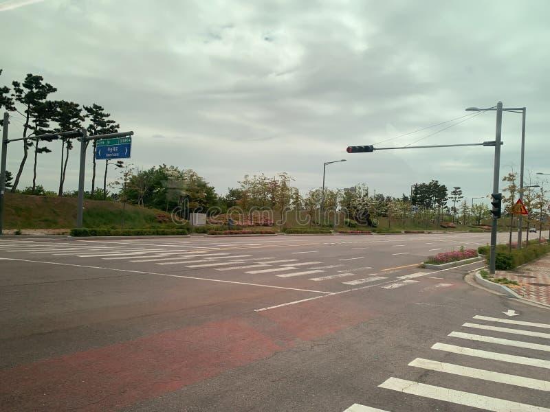 Föreningspunkt i söder av Korea royaltyfri bild