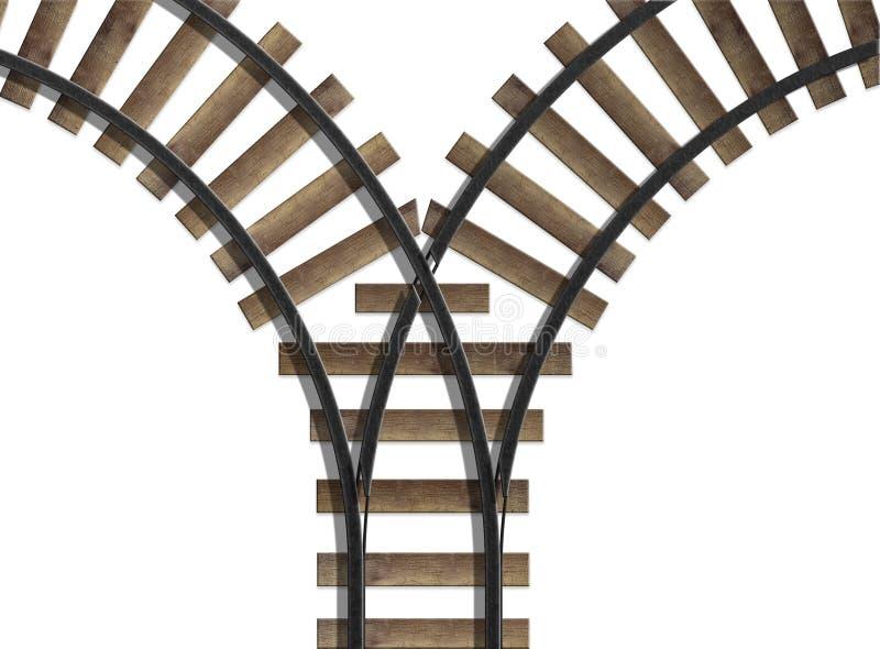föreningspunktjärnväg royaltyfri illustrationer