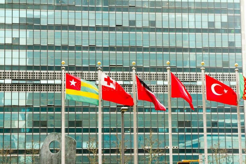 Förenta nationbyggande arkivbild