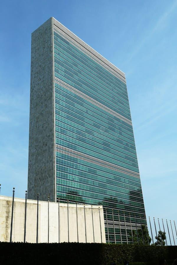 Förenta Nationerna som bygger i Manhattan royaltyfria bilder