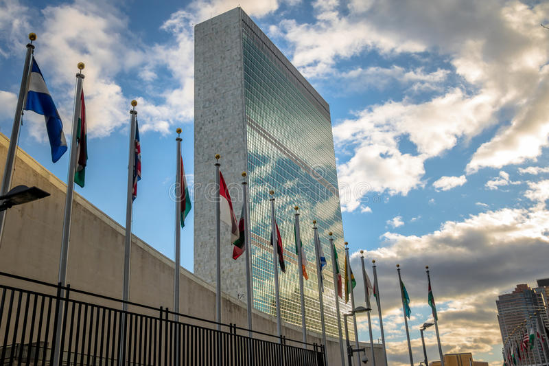 Förenta Nationernahögkvarter - New York, USA royaltyfria bilder