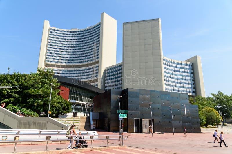 Förenta Nationernakontoret i Wien royaltyfri foto