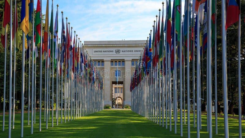 Förenta nationernas kontor i Genève royaltyfri fotografi