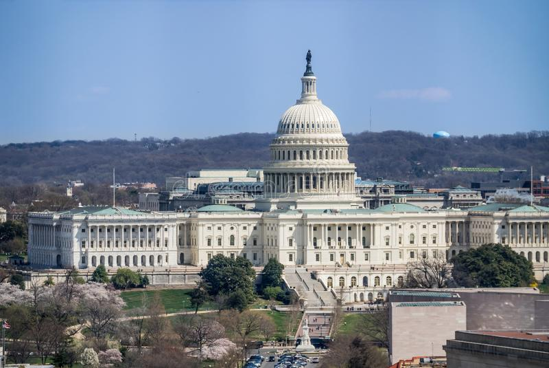 Förenta staterna Kapitolium, Washington D C arkivbilder