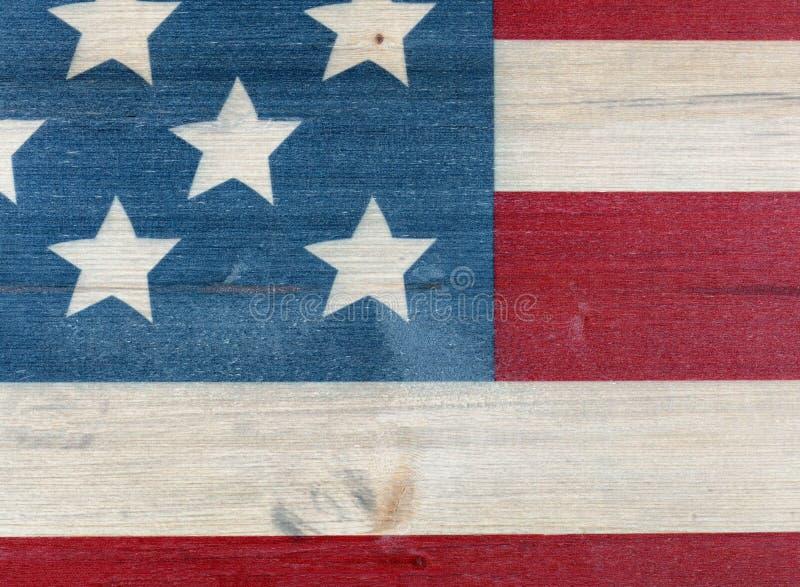 Förenta staterna sjunker målat på tappningträbakgrund royaltyfri bild