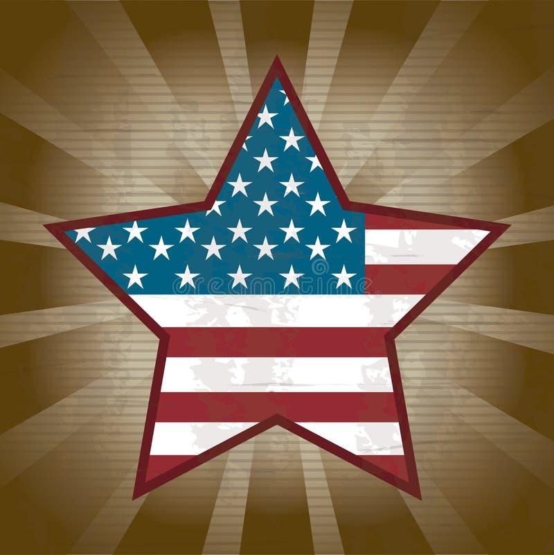 Förenta staterna stjärna royaltyfri illustrationer