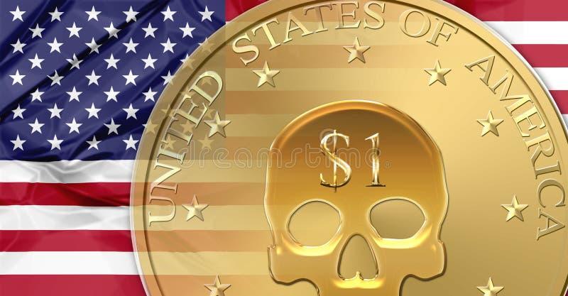 Förenta staternadollar vektor illustrationer