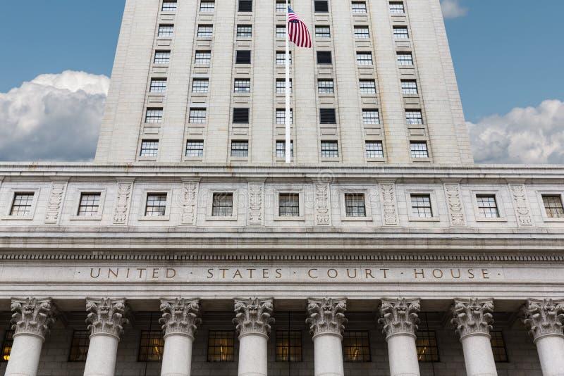 Förenta staternadomstolsbyggnad fotografering för bildbyråer