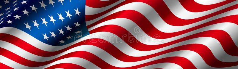 Förenta staternaflaggavektor vektor illustrationer