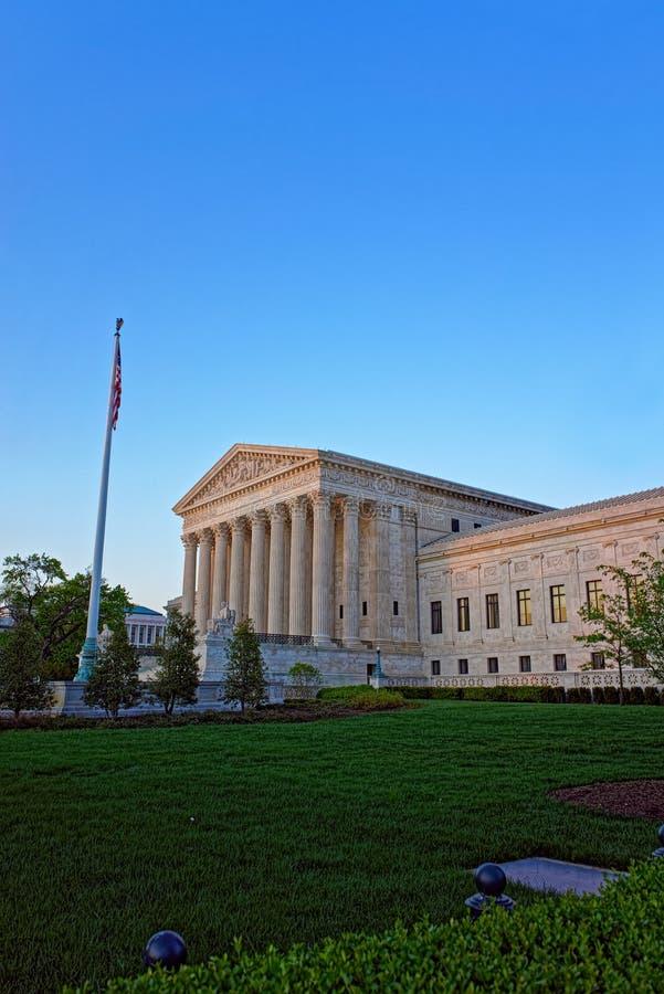 Förenta staternahögsta domstolenbyggnad fotografering för bildbyråer