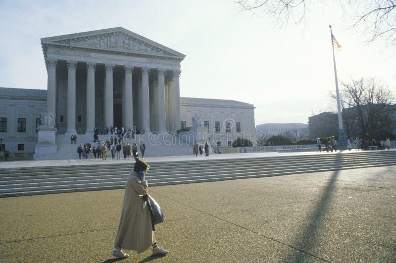 Förenta staternahögsta domstolenbyggnaden, Washington, D C royaltyfria bilder