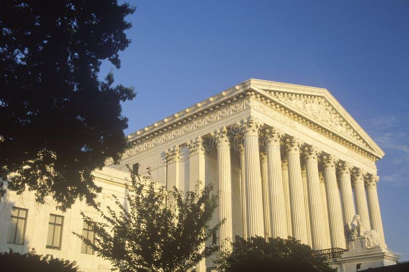 Förenta staternahögsta domstolenbyggnaden, Washington, D C arkivfoton
