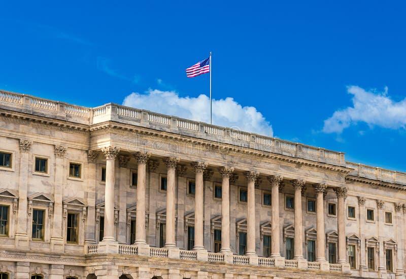 Förenta staternaKapitoliumbyggnad i Washington DC - norr fasad av den berömda regerings- byggnaden på Capitol Hill fotografering för bildbyråer