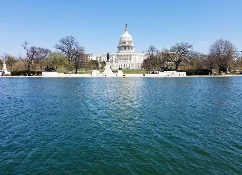 Förenta staternaKapitoliumbyggnaden, på Capitol Hill i Washingto arkivfoto