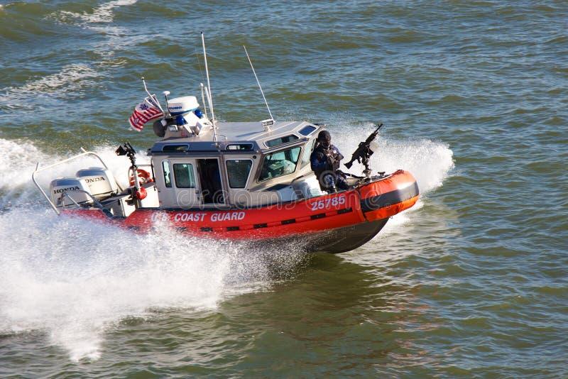 Förenta staternakustbevakning Boat royaltyfri fotografi
