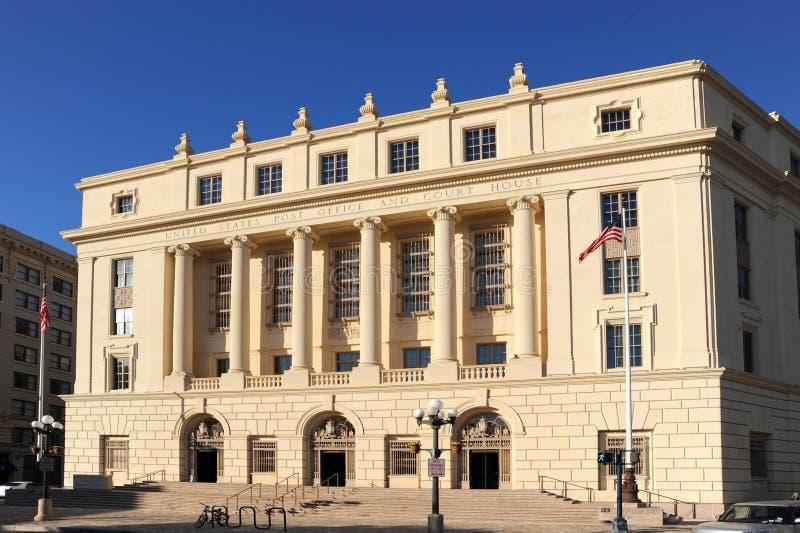Förenta staternastolpe - kontor i San Antonio, Texas royaltyfria foton