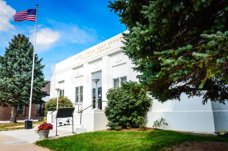 Förenta staternastolpe - kontor - Ogallala, Nebraska royaltyfri bild