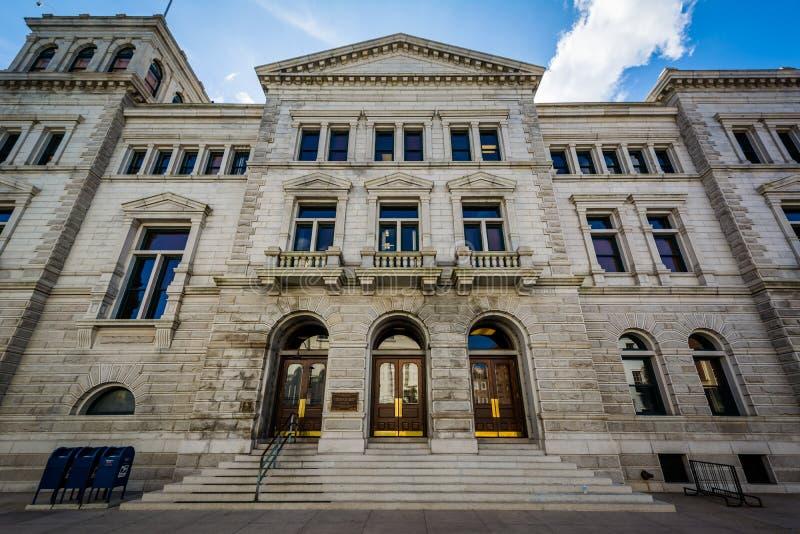 Förenta staternastolpen - kontor och domstolsbyggnad, i charleston, South Carolina arkivfoton