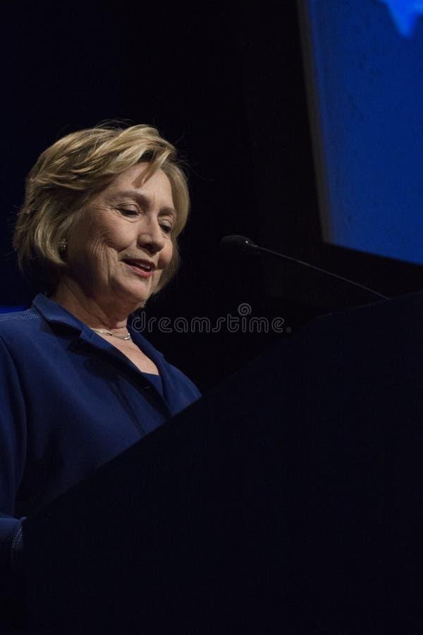 Förenta staternautrikesminister Hillary Clinton royaltyfria bilder