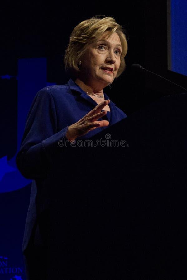 Förenta staternautrikesminister Hillary Clinton royaltyfri bild