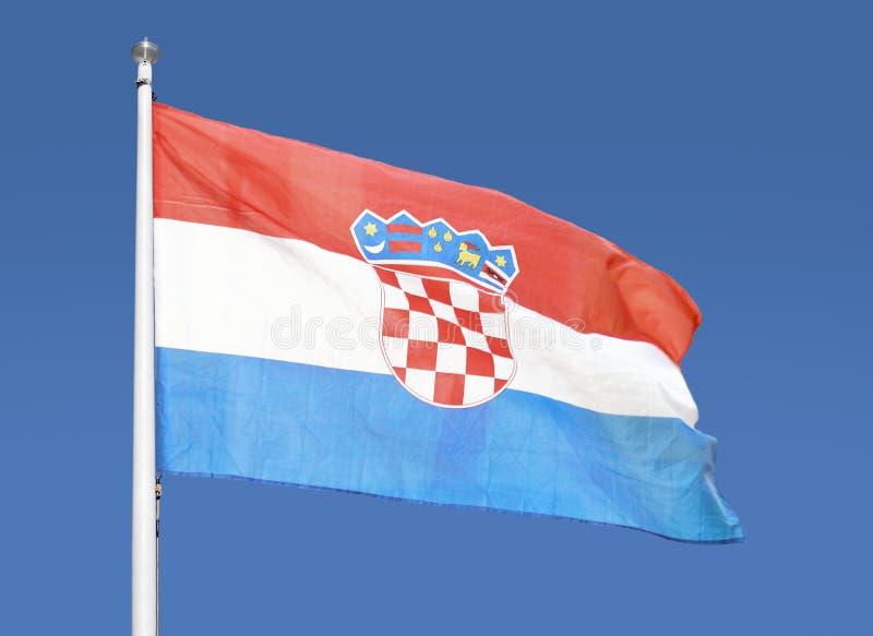 Föreställa Kroatienflaggan fotografering för bildbyråer