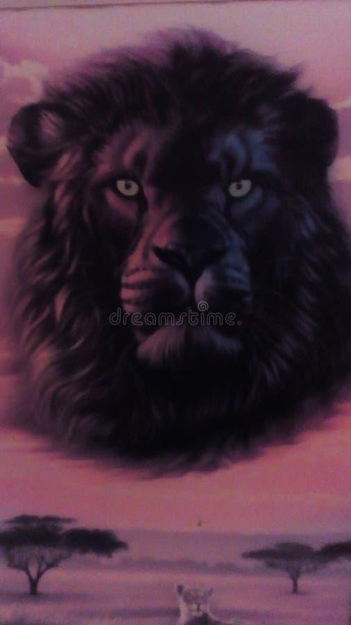 Föreställd lejonhme arkivfoton