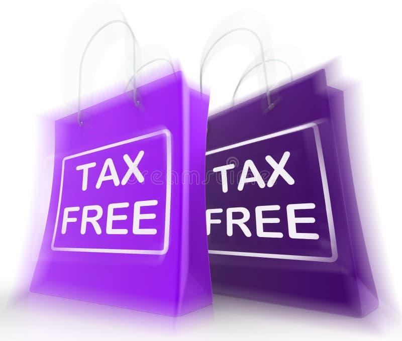 Föreställer den fria shoppingpåsen för skatt undantagna rabatter för arbetsuppgift vektor illustrationer