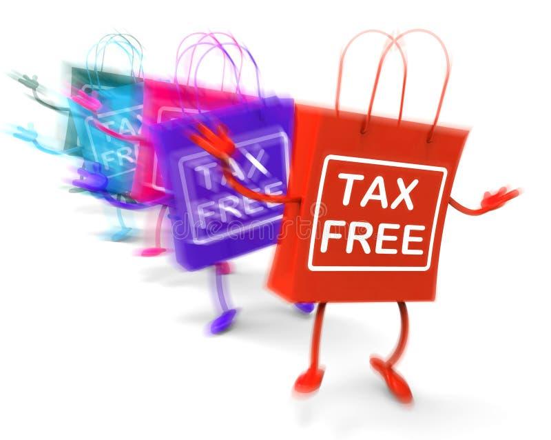 Föreställer fria shoppingpåsar för skatt undantagna rabatter för arbetsuppgift stock illustrationer