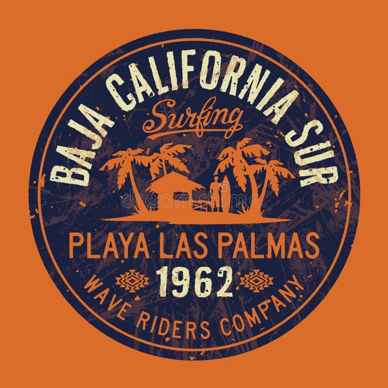 Företag för bränning för Baja CaliforniaSur våg royaltyfri illustrationer