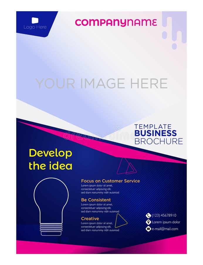 Företag för broschyrreklambladaffär och företags royaltyfri illustrationer