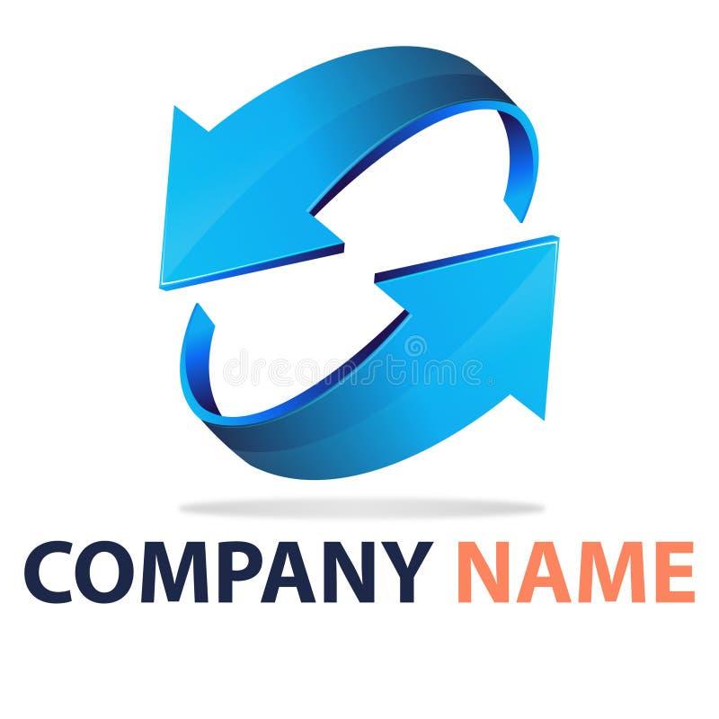 företag logo2 stock illustrationer