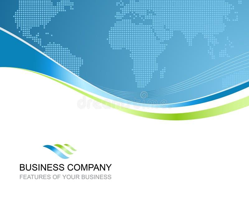 Företags affärsmall royaltyfri illustrationer
