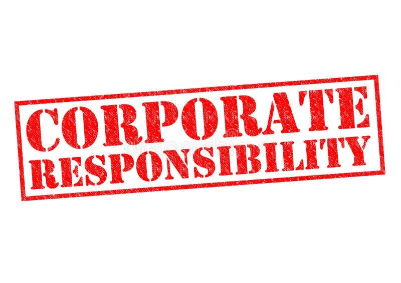 Företags ansvar stock illustrationer