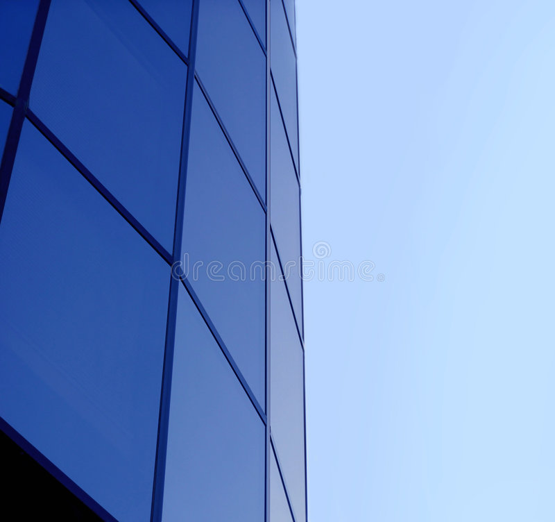 företags blå byggnad fotografering för bildbyråer