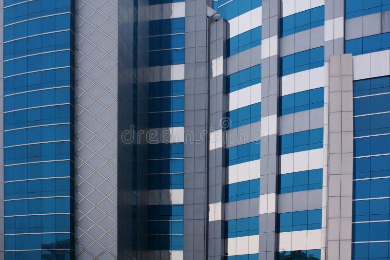 företags blå byggnad arkivbilder
