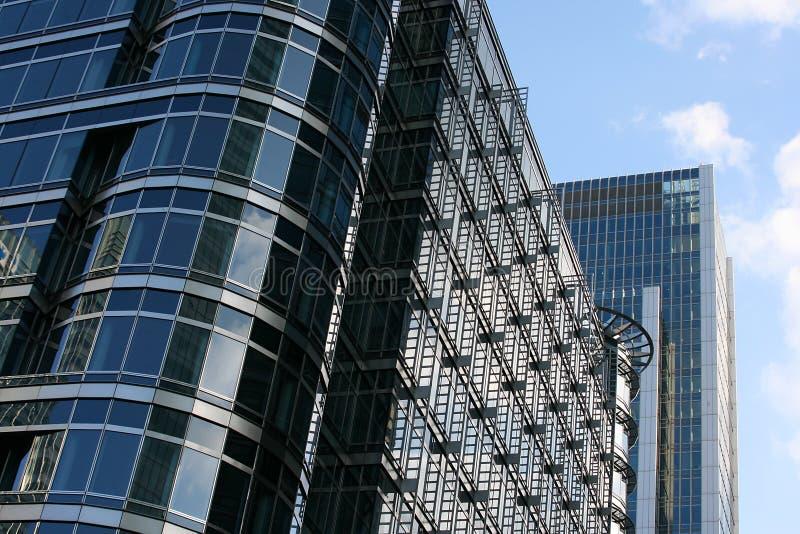 företags byggnader royaltyfri fotografi