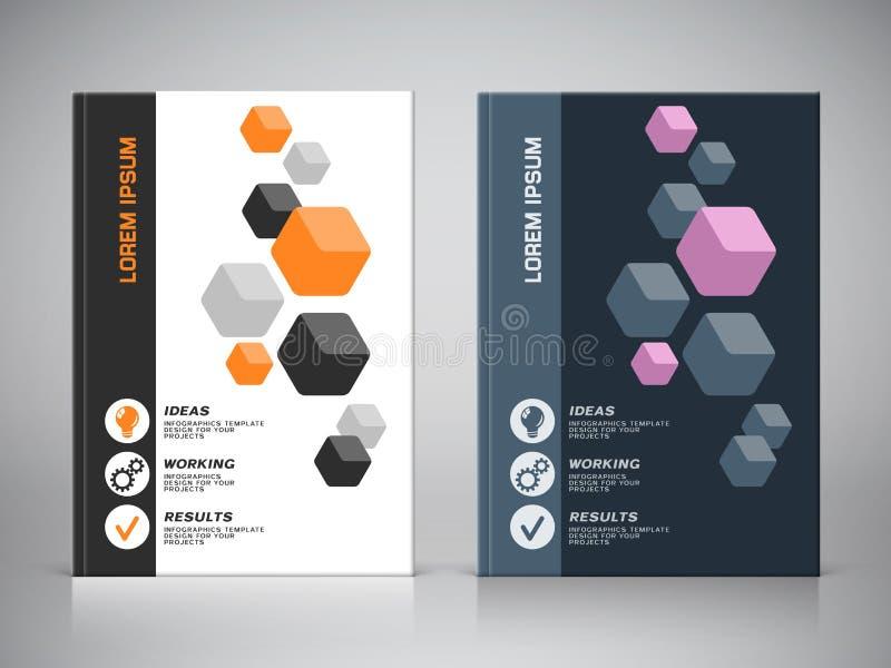 Företags design av broschyrräkningen vektor illustrationer