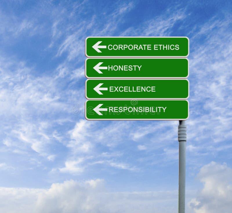 Företags etik royaltyfri bild