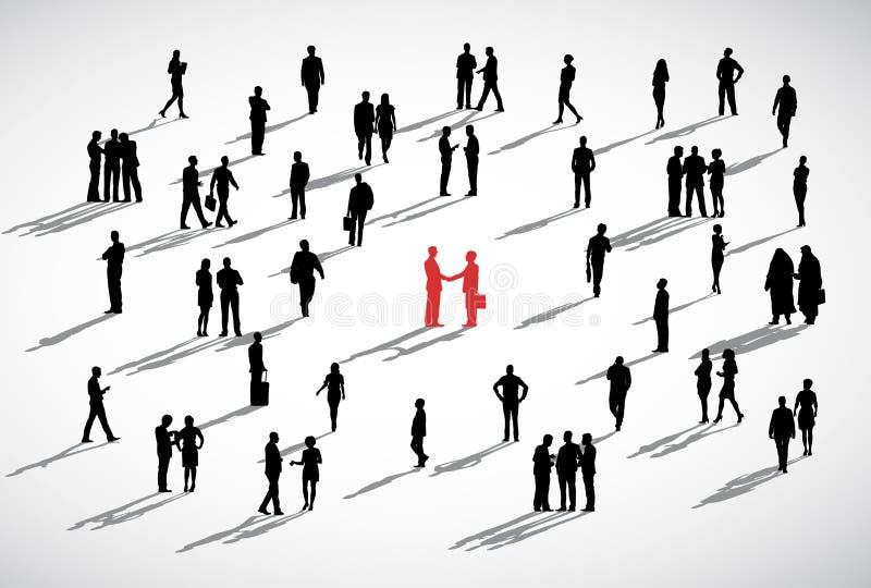 Företags för partnerskapdiskussion för två affärsmän begrepp royaltyfri illustrationer