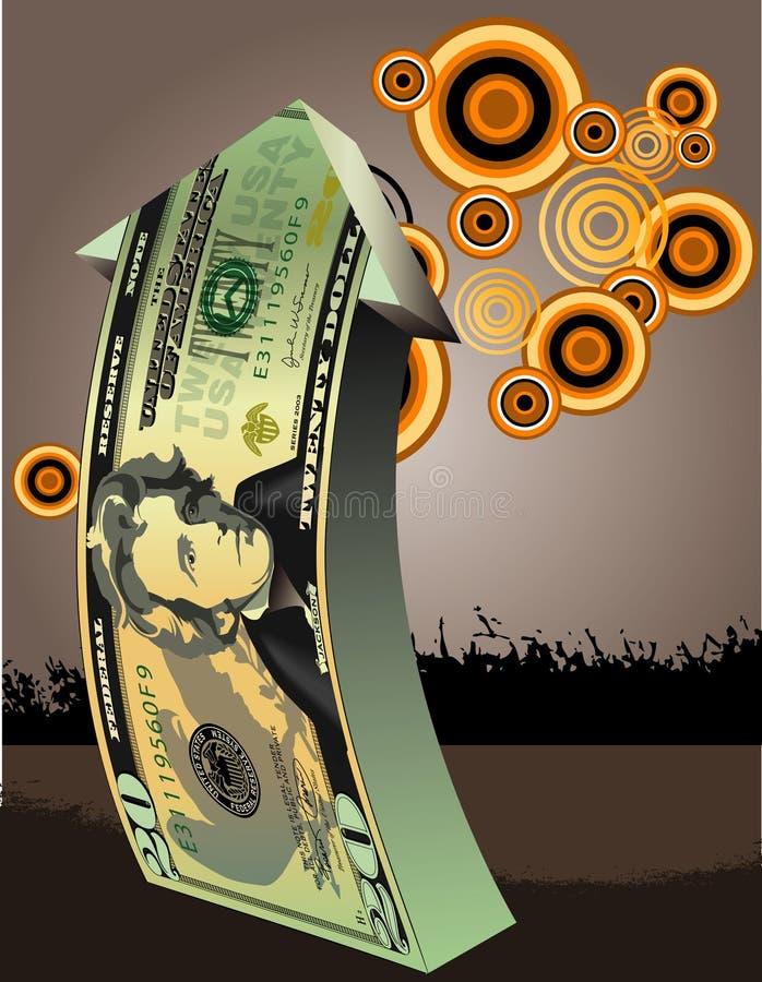 företags finansiell tillväxt vektor illustrationer