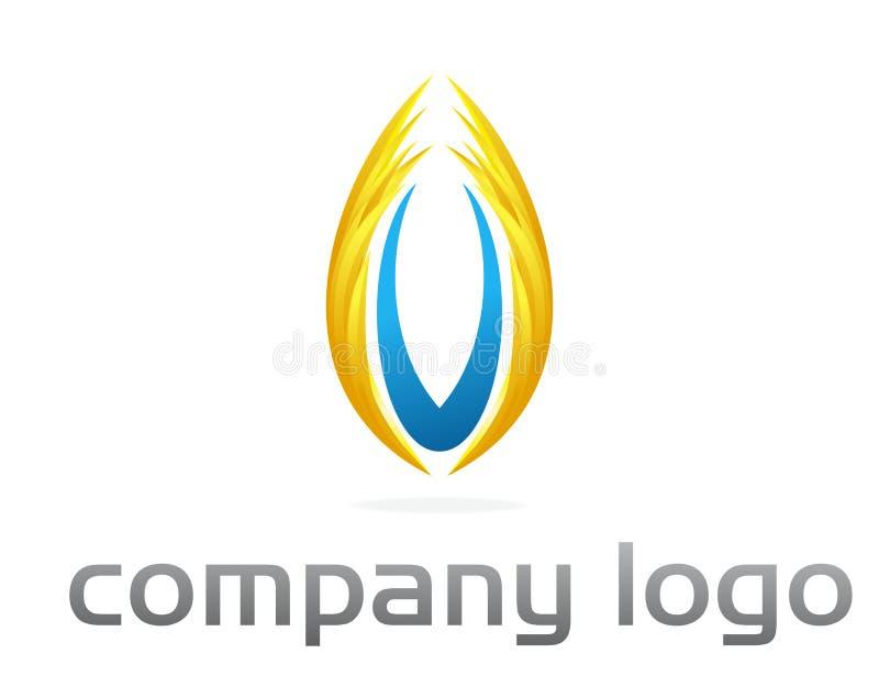 företags flammalogovektor stock illustrationer