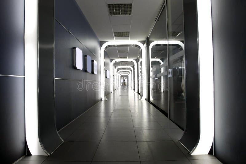 företags futuristic interior royaltyfri foto