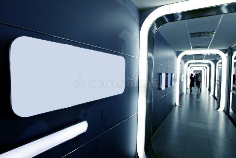 företags futuristic interior för affär royaltyfri fotografi