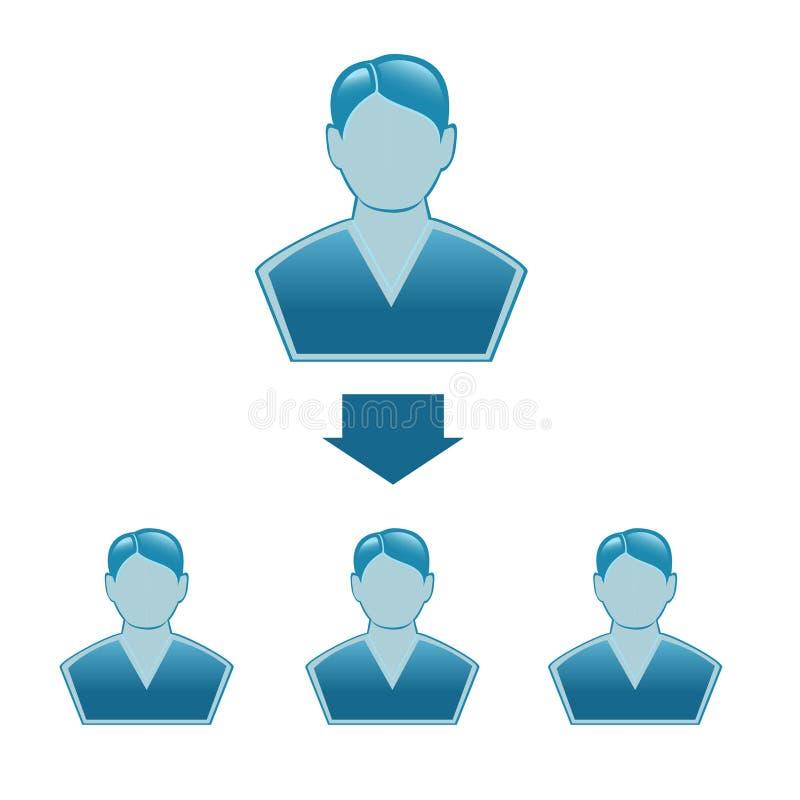 Företags hierarki stock illustrationer